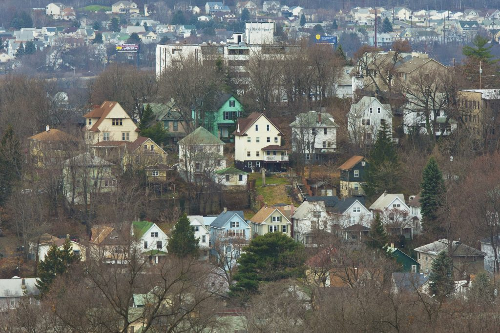 A suburban neighborhood in Scranton, Pa., Nov. 29, 2011. President Barack Obama has scheduled a visit to Scranton Wednesday, his first trip there since he became president. (Ruth Fremson/The New York Times)