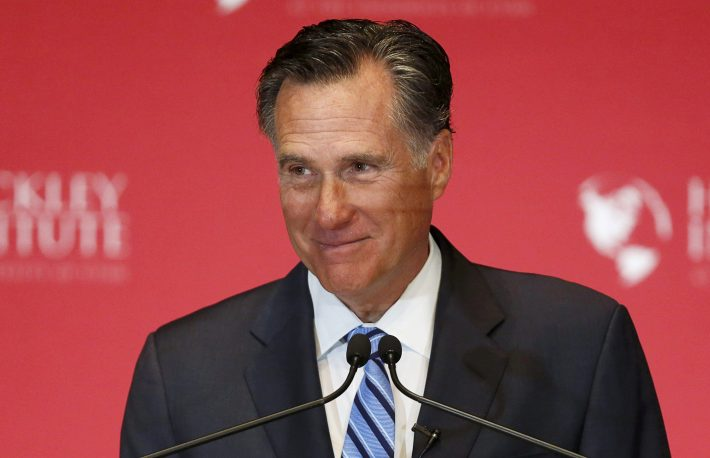 Former Republican U.S. presidential nominee Mitt Romney delivers a speech criticizing current Republican presidential candidate Donald Trump in Salt Lake City, Utah March 3, 2016. REUTERS/Jim Urquhart/File Photo