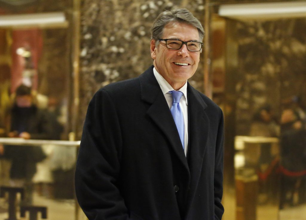 Ex-governador do Texas, Rick Perry, é escolhido para comandar o Departamento de Energia dos EUA (Foto: AP Photo/Kathy Willens)