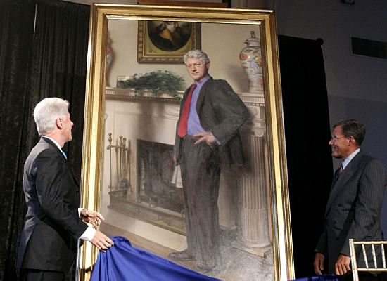 Retrato de Bill Clinton no Smithsonian Institution