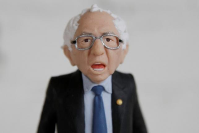 A Bernie Sanders action figure prototype is seen in a photo illustration taken in the Brooklyn borough of New York February 25, 2016. REUTERS/Brendan McDermid